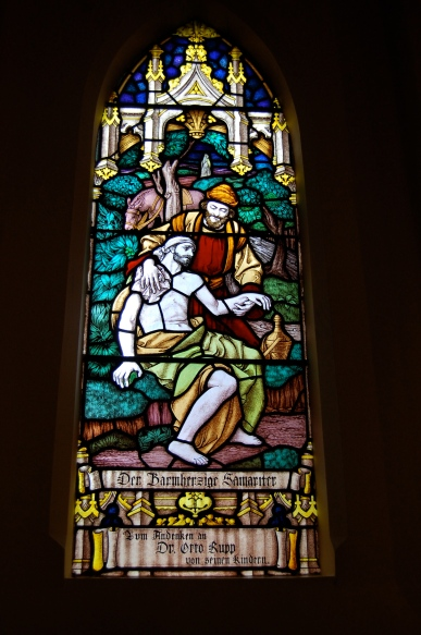 Stained Glass Window in german Lutheran Trinity Church