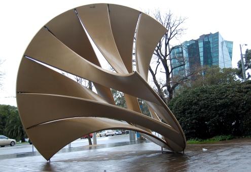 Shell Mace sculpture